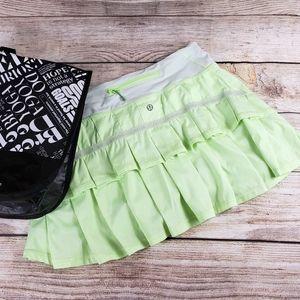 Lululemon Athletica Pacesetter Tennis Skirt 4 Bag